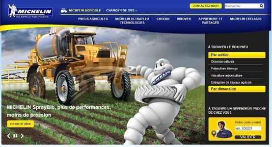Michelin lance un site dédié agriculture
