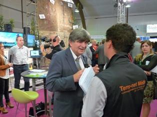 Michel Griffoin, agronome et économiste, directeur général adjoint de l'Agence nationale de la recherche, est à l'origine du concept de l'Aei qu'il explique régulièrement (comme ici au Space 2011)