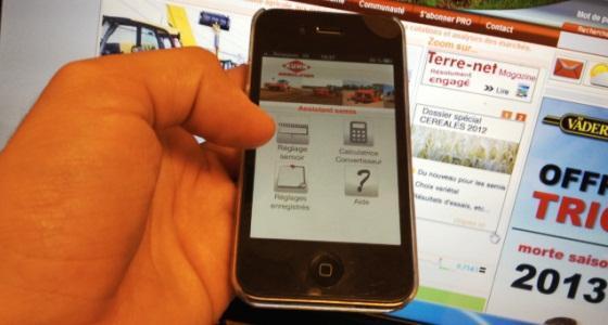 Une appli mobile pour régler votre semoir