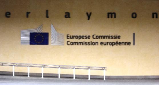 Entrée de la Commission européenne à Bruxelles.