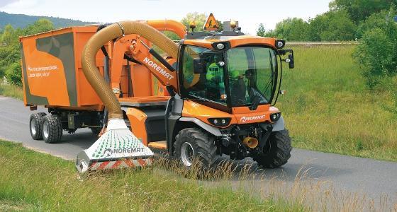 Vsv Noremat en configuration récolte de biomasse