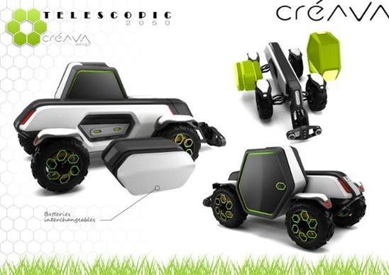 telescopic 2050 le t lescopique lectrique du futur de cr ava design. Black Bedroom Furniture Sets. Home Design Ideas