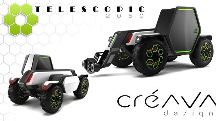 Créava Design esquisse le télescopique de 2050