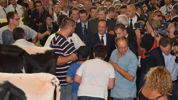 François Hollande au Sommet de l'élevage 2013.