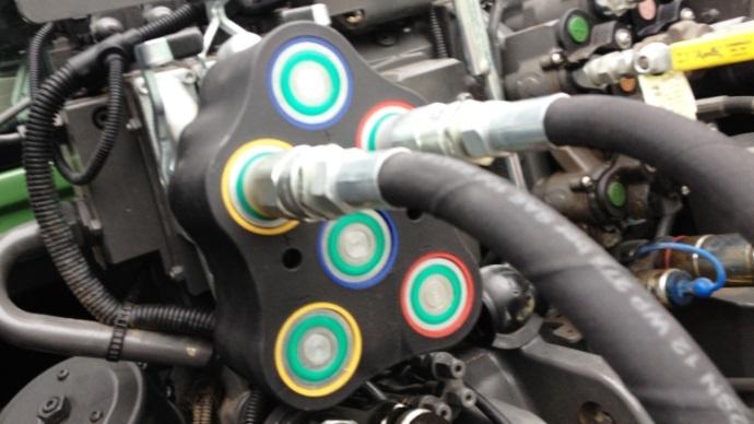 Le coupleur hydraulique à face plate de Fendt. Disponible pour les 900 dans un premier temps.