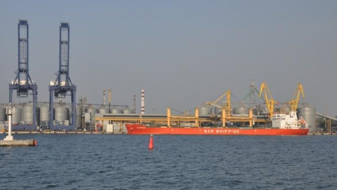 Port d'embarquement en Ukraine.
