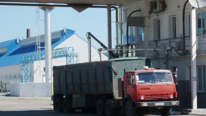Chargement de camion à Odessa.